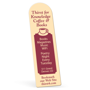 "2"" x 7"" 1 Color .015"" Biodegradable White Satin Plastic - Plastic Bookmarks: Screen"