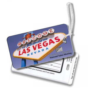"2 1/4"" x 4 1/4"" Full Color with Matte Panels or  White .050"" Luggage Tag with See Through Pocket for ID - Luggage Tags"