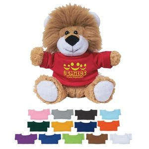 "6"" Lovable Lion With Shirt -"