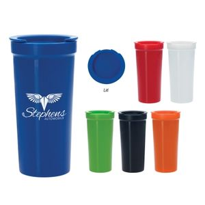 16 Oz. Tumbler With Lock Lid -