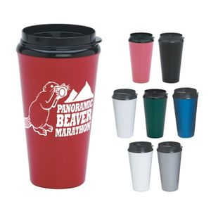 16 Oz. Infinity Tumbler With Plastic Sip Thru Lid