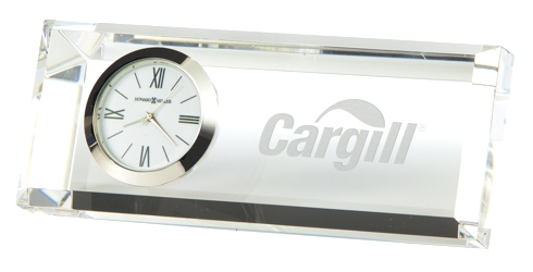 Prism - Crystal award tabletop clock