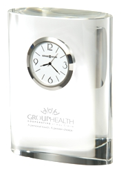 Fresco - Crystal award tabletop clock
