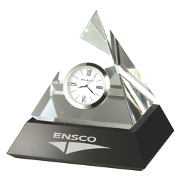 Summit - Crystal pyramid award clock