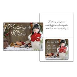 Greeting Card with Magnetic Calendar - Holiday Greeting Cards w/Magnet
