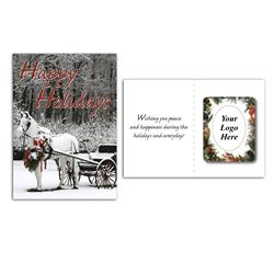 Greeting Card with Magnetic Photo Frame - Holiday Greeting Cards w/Magnet