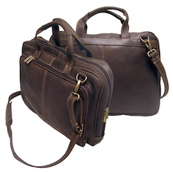 Distressed Leather Laptop Briefcase -