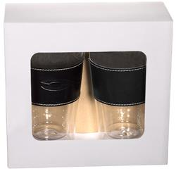 Mighty Glass Tumbler With Leather Sleeve Set -