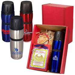 Click 'n Sip Thermal Bottle & Cocoa Gift Set -
