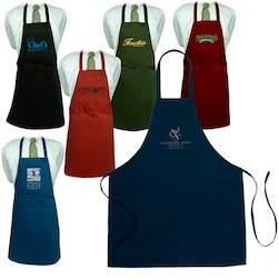 Butcher Apron Without Pockets  Dark Colors