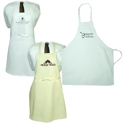 Butcher Apron Without Pockets  Natural And White