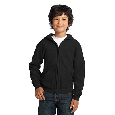 Gildan 174  Youth Heavy Blend 153  Full-Zip Hooded Sweatshirt. 18600B -