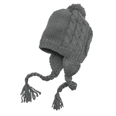 District 174  - Cabled Beanie with Pom DT617