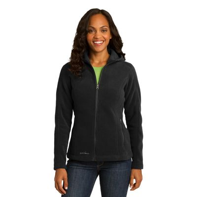Eddie Bauer 174  Ladies Hooded Full-Zip Fleece Jacket. EB206 -
