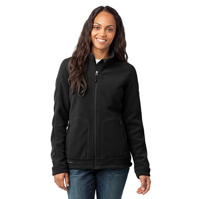 Eddie Bauer 174  - Ladies Wind Resistant Full-Zip Fleece Jacket. EB231 -