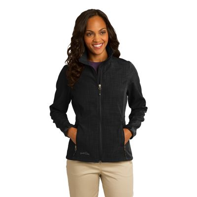 Eddie Bauer 174  Ladies Shaded Crosshatch Soft Shell Jacket. EB533 -
