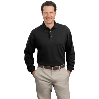 Port Authority ®  Long Sleeve Pique Knit Polo. K320