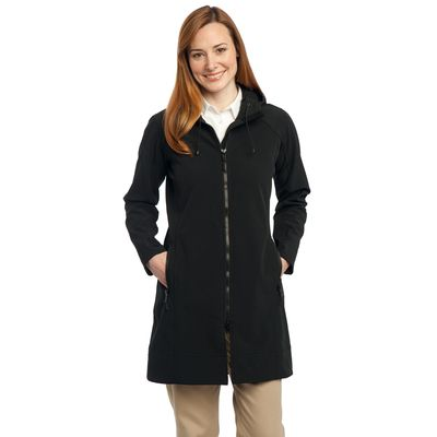 Port Authority ®  Ladies Long Textured Hooded Soft Shell Jacket. L306