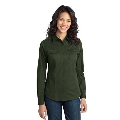 Port Authority 174  Ladies Stain-Resistant Roll Sleeve Twill Shirt. L649 -