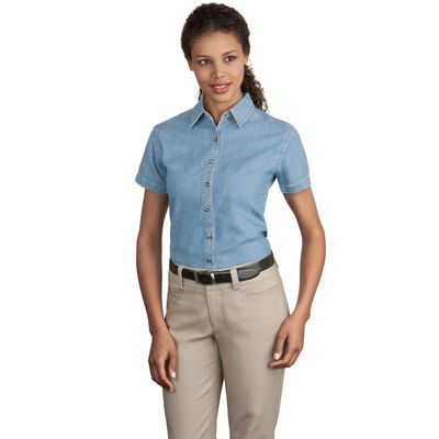 Port & Company ®  - Ladies Short Sleeve Value Denim Shirt.  LSP11