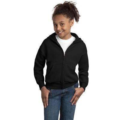 Hanes ®  - Youth Comfortblend ®  EcoSmart ®  Full-Zip Hooded Sweatshirt. P480