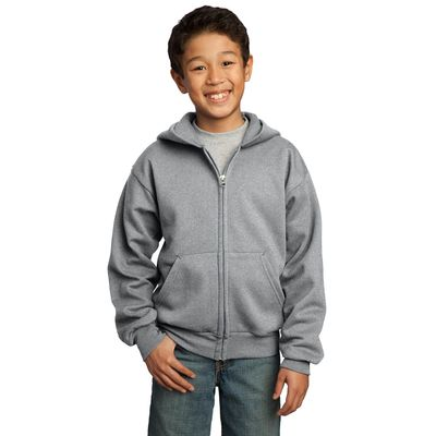 Port & Company ®  - Youth Full-Zip Hooded Sweatshirt.  PC90YZH