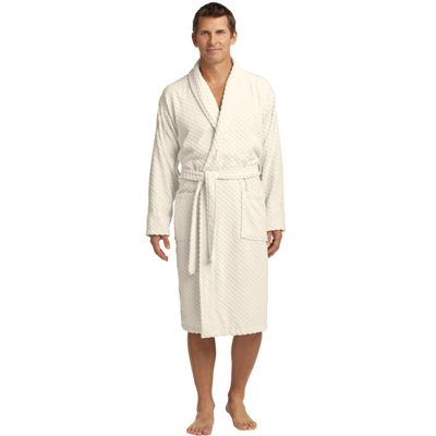 Port Authority 174  Checkered Terry Shawl Collar Robe. R103 -