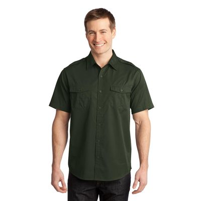Port Authority 174  Stain-Resistant Short Sleeve Twill Shirt. S648 -