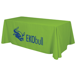 24 Hour Quick Ship 6' Economy Table Throw (1-Color Imprint) -