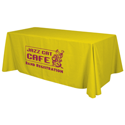 24 Hour Quick Ship 8' Economy Table Throw (1-Color Imprint) -