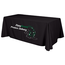 24 Hour Quick Ship 6' Economy Table Throw (2-Color Imprint) -