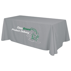 24 Hour Quick Ship 8' Economy Table Throw (2-Color Imprint) -