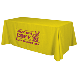 24 Hour Quick Ship 6' Standard Table Throw (1-Color Imprint) -