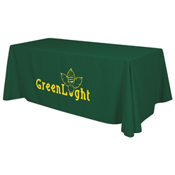 24 Hour Quick Ship 8' Standard Table Throw (1-Color Imprint) -