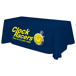 24 Hour Quick Ship 6' Standard Table Throw (Full-Color Thermal Imprint) -