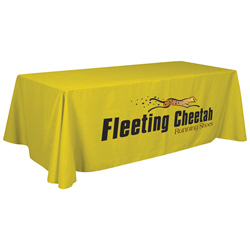24 Hour Quick Ship 8' Standard Table Throw (Full-Color Thermal Imprint) -