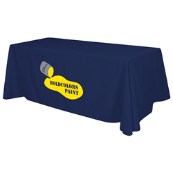 24 Hour Quick Ship 8' Standard Table Throw (2-Color Imprint) -