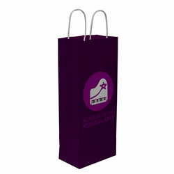 "Kraft Shopper Full-Bleed 5.5""w x 13""h x 3.25""d - Natural upscale look at a giveaway priceMade of recyclable kraft material sealed together with chlorine free water-based adhesiveHigh quality twisted handle bagsMade in the USANo over/under runsPlate Charge $150.00(g) per color/Maximum 3 ColorsWe cannot guarantee Graphic alignment across any seam. Copy within 1/4"" of bag edges may bleed over edge Seam Locations: One Vertical Side SeamQuantity 5,000 bags ship in 20 boxes 250 bags per box Each box dimension: 18 x 13 x 21 Each box Shipping Weight: 16.1 lbs (we"