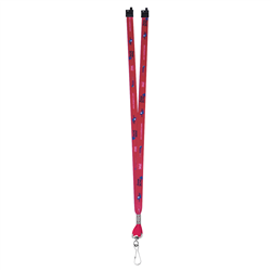 "1/2"" Deluxe Lanyard w Swivel Hook (Full-Color, 2-Sided) w Breakaway -"