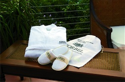 Cabana Bay Velour Robe and Slippers Gift Set