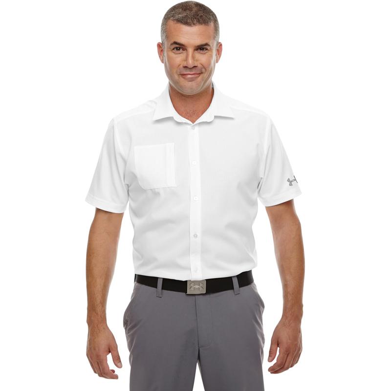 Under Armour Men's Ultimate Short Sleeve Buttondown Polo. 1259095.