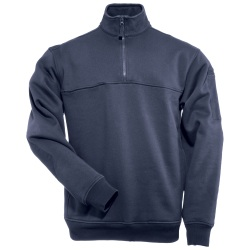 1/4 Zip Job Shirt (TALL) - Made specifically for Fire professionals  the poly/cotton fleece ¼ Zip Job Shirt provides functionality and comfort. Each shoulder offers a mic clip and pen pockets are found on the left sleeve. The Chest Breakthrough pocket accommodates a large object while the hook and loop fastener divider keeps smaller items in place.