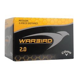 Callaway Warbird 2.0 - The Callaway Warbird 2.0 is a two piece golf ball designed for distance seekers who love to watch it fly.