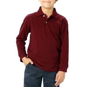 Youth Long Sleeve - Youth long sleeve pique polo shirt with no pocket.