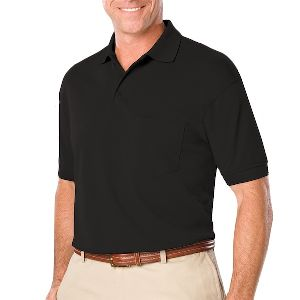 Adult Short Sleeve Pique With Pocket - Men's value pique polo.