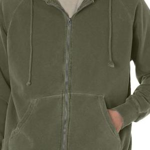 1563 Chouinard Adult Full-Zip Hooded Sweatshirt  - 1563-Sage DirDye