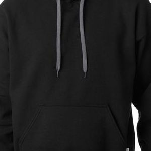 185C00 Gildan Adult Heavy BlendTM Contrast 50/50 Hooded Sweatshirt  - 185C00-Black/ Sport Grey