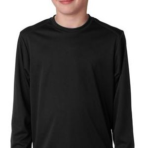 2104 Badger Youth B-Dry Core Long-Sleeve Performance Tee  - 2104-Black