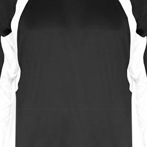 2154 Badger Youth Performance Long-Sleeve Hook Athletic Tee  - 2154-Black/ White