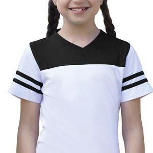 2637 LA T Girls Football T Shirt